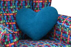 Polštář srdce 33x40 cm