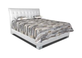SASHA luxusní postel LOFT WHITE