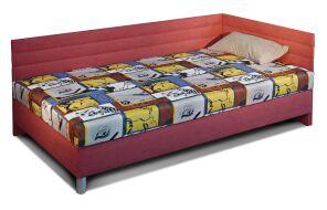 NAOMI rohová čalouněná postel Šedá