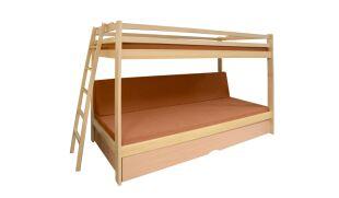 TRIO trojlůžková patrová postel